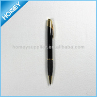 Slim twist action pen,gold trim metal pen