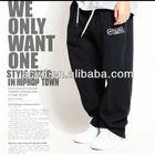 Pure cotton street dance men pants/ basketball board shorts/ hip hop trouser