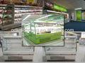 Hot venda de frutas do supermercado mostrar geladeira/vegetais vitrine refrigerada/supermercado exposição aberta cooler para bebidas