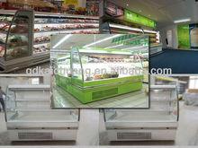Hot sale Supermarket fruit display fridge/vegetable refrigerated showcase/Grocery open display cooler for beverage