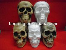 2013 hot selling wholesale decorative halloween foam skull
