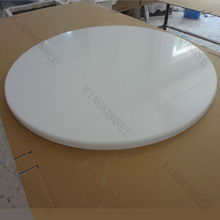restaurant big size acrylic resin tables/artificial stone table top