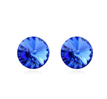 Hot Sale Austrian Crystal Stud Earrings Mix Colors Wholesale