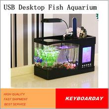 Multifunction Mini USB Desktop Fish Tank Aquarium with clock