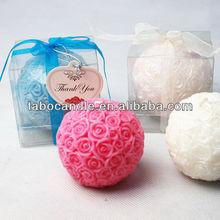 fashion rose ball candle wholesale