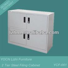 2 Tier Steel Storage Locker With 4 Lockable Doors YCF-661