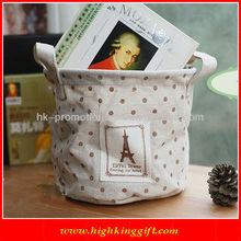 Hot sale canvas bucket book bags strap