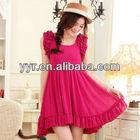 Fashion !!!! 2013 Wholesale Korean Japanese High Quality Puff Sleeve Chiffon Summer Dress