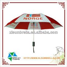 2 folding umbrella rain original advertise