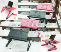 NEW LAPTOP LAP DESK FOLDABLE TABLE E-TABLE BED WITH USB COOLING FANS STAND