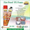 750ml Professional PU foam with fire retardant,urethane foam
