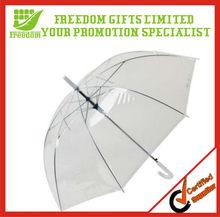 High Quality Straight transparent PVC umbrella