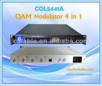 DVB-C converter,4 Channel QAM Modulator/DVB QAM modulator/ Digital CATV DVB-C/ 4 in1 COL5441A