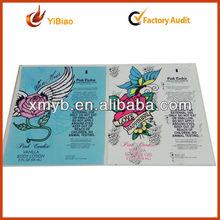 2013 new design with elegant custom perfume labels