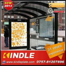 customized outdoor aluminum bus stop shelter