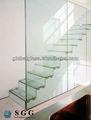 Alta calidad pasamanos de la escalera interior de vidrio laminado