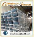 tianjin nova construção tubo quadrado galvanizado perfil