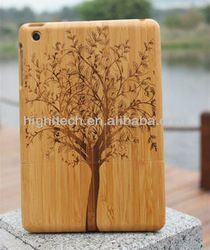 New Tree Natural Bamboo Wood Wooden Case Cover For iPad mini