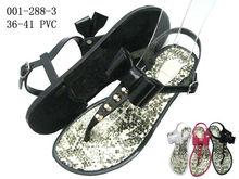 Fashion PVC flat sandal 2013