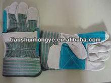 Abrasion-resistant cow split chrome leather gloves