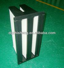 F9 2 V shape HEPA filter for air handling unit