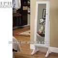 navidad artesanías de madera espejo gabinete de la joyería para la niña y la mujer