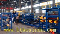 mineral wool and polyurethane sandwich panel production line
