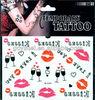2013 hot lip tattoo sticker