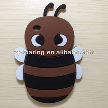 for ipod touch 4 3D bee silicone case back cover