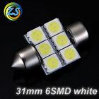 car led bulb festoon led light 31mm 6smd 5050 white