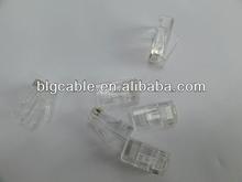 transparent plastic rj45 connector 8p8c