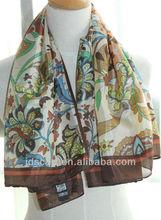 mode+hijab+hiver+2012 SYF-004# 100% silky polyester Printing scarf digital printed scarf