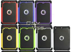 High Quality, 3 in 1 Armor PC Silicone Case For iPad Mini Ballistic Case
