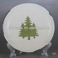 natal cerâmica rodada taça de grés para a decoração