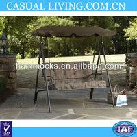 2 Seat Brown Home Outdoor Patio Swing Cushion Garden Deck Furniture Yard Canopy