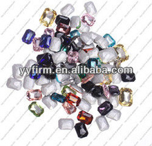 Real Silver Plated Bottom Long Octagon Crystal Beads for Decoration!!