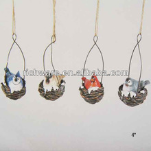 Resin hanging Christmas winter Birds Ornaments