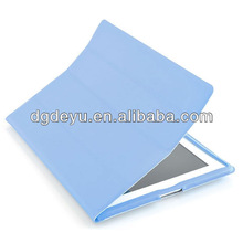 book style leather case for ipad 2 3 (4 folding)