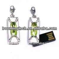 Elegant slim jewelry necklace usb flash driver