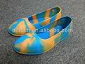 moda silicone colorato sicurezza copertura scarpa galosce di gomma uomo