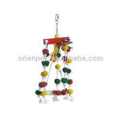 wooden pet bird toy