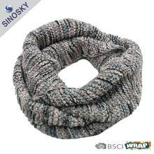 100% acrylic knit infinity pattern scarf
