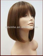 New Fashion Beautiful Human Virgin Hair Lace Wigs Bob Wig