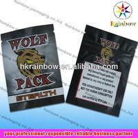 Wolf Pack Herbal Incense Bag Smoke Bag with zipper