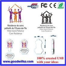 Novel UBS stick, 100% custom design, 100% low price