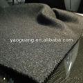 de lana de punto de hilo de poliéster tela