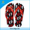 2013 China natural rubber customize printing beach wedding flip flops
