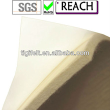 Self-adhesive wool felt with paper backing