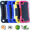 Newest design PC&Silicone phone case for ipod touch 5 with metal sheet