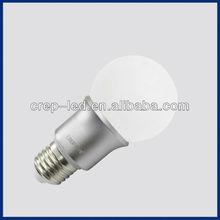 4w 5w 6w a19 e27 led bulb ac100~240 volt dimmable 90lm/w opal/milky glass cover led globe
